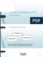 Central Problems of an Economy