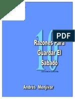 andrés menjivar - Diez Razones para guardar el sábado.pdf