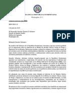 Carta a Senador Charles E. Schumer