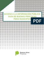 Acceso a la Información Pública. Guía de buenas prácticas para municipios