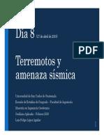 TERREMOTOS Y AMENAZA SÍSMICA