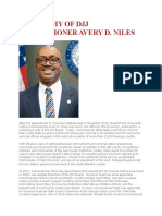 OFFICIAL BIOGRAPHY OF DJJ COMMISSIONER AVERY D. NILES