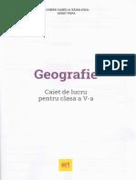 Geografie - Clasa 5 - Caiet - Carmen Camelia Radulescu