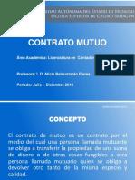 14.- Contrato de Mutuo