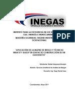-Aplicación de La Matriz de Riesgo y Técnicas What if y Hazop en Etapas de Construcción de Un Gasoducto