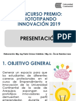 Concurso Premio Prototipando Innovación 2019