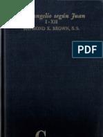 El Evangelio Segun Juan I-xii - Raymond Brown