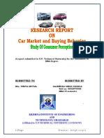 Car Market and Buying Behaviour Study of Consumer Perceptoin