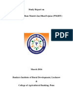 PMJDY Study Report Cover Page to Executive Summary