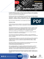 Convocatoria Fondo Letras Gto 2019