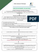 Procedure de Soutenance CEDoc Sciences Et Techniques