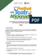 Bases 13 Festival Teatro Aficionado