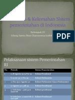 Kelebihan & Kelemahan Sistem Pemerintahan Di Indonesia