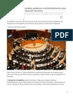 01/Julio/2019 Senado aprueba cuidados paliativos multidisciplinarios ante enfermedades en situación terminal