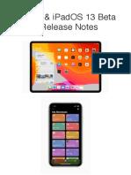 IOS 13 & IPadOS 13 Beta 3 Release Notes