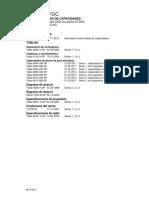 Tabla de Carga MW2250