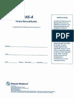 AMAS Forma Autocalificable AMAS-A (MP 76-2)