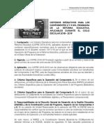 Criterios Operativos Pre 2018 2019 Vf