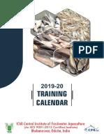 ICAR-CIFA Training Calendar 2019-20 Web