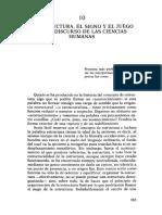 DERRIDA Jacques - La estructura, el signo y el juego en el discurso de las ciencias humanas.pdf
