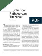 Pythagorean Theorem on Spheres