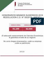 CPCE - Honorarios Sugeridos 2018