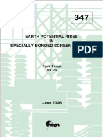 Earth Potential Rises in Specially Bonded Screen Systems