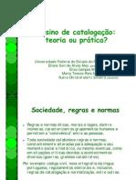 Ensino de catalogação - teoria ou prática