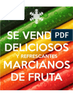 Letrero de Marcianos