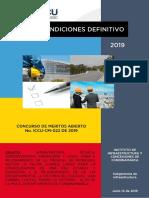 Pliego de Condiciones Definitivo- Iccu-cm-022 de 2019 x Lotes