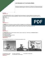 Questões Do Simulado Do 1C Do Ensino Médio Física e Química