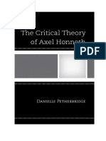 (2013) PETHERBRIDGE, D. the Critical Theory of Axel Honneth (1)