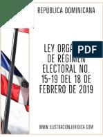 Ley Orgánica de Régimen Electoral 15-19