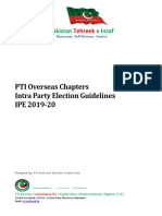 PTI Overseas Chapters Intra Party Election Guidelines IPE 2019-20
