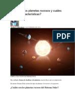 Qué Son Los Planetas Rocosos y Cuáles Son Sus Características