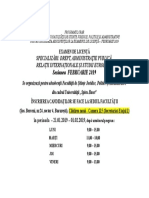 Programul Orar Al Secretariatului SJPA FEB 2019