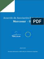 Acuerdo UE Mercosur resumen Cancillería