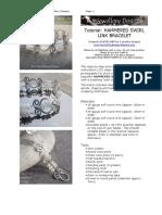 Hammered Swirl Link Bracelet Tutorial KSJEWELLERY