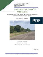 Informe Mensual - Residencia Ambiental