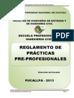 Reglamento Practicas Pre Profesionales Ing Civil Pucallpa (Parecido a La Undac)
