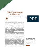 Diferencias entre el IRA y ETA