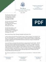 Rep. Tim Ryan  'Salute to America' letter to Secs. Esper-Bernhardt-Chao
