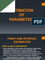 Estimation of Parameters