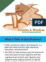 TOS by Lourdes A. Mendoza presentation