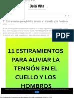 11 Estiramientos Para Aliviar La Tensión en El Cuello y Los Hombros - Beia Vita