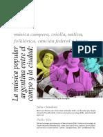 La Música Popular Argentina Entre El Campo Y La Ciudad_ Música Ca.pdf