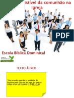 PODER IRRESISTÍVEL  DA COMUNHÃO NA IGREJA Word.docx