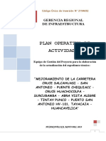 Plan Operativo de Actividades 02 - Carretera Salcahuasi