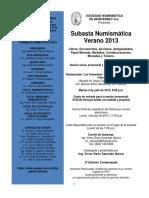 Cat. Subasta Numismática Verano 2013 2a Ed. Condensada