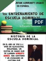 origen de la escuela dominical